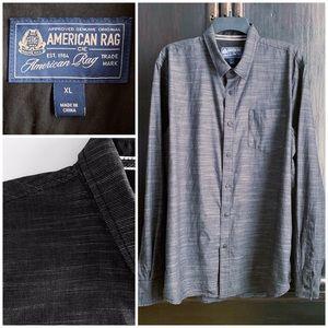 """American Rag"" Long Sleeve Black Woven Shirt XL"